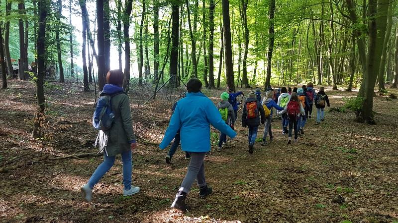 Schulwandern mit den Drittklässlern der  Erich-Kästner-Schule