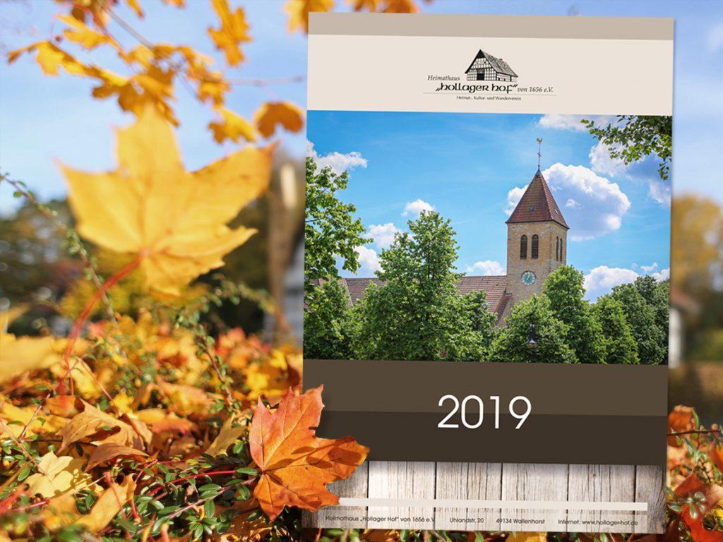 Kalender 2019 des Heimathauses Hollager Hof ab sofort zu erwerben