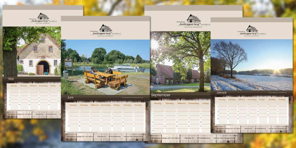 Heimathaus Hollager Hof präsentiert Jahreskalender 2019